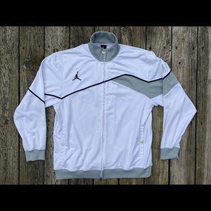 Nike Jordan Double Sided White Zip Fleece Jacket